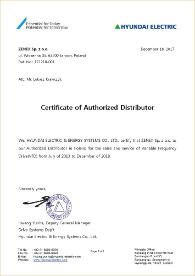 Certyfikat Dystrybutora Hyundai
