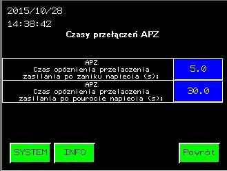 Panel operatorski  czasy przełączenia - opóźnienia.