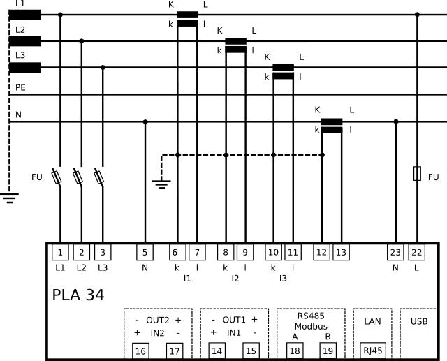Schemat conection( połączenia ) PLA34