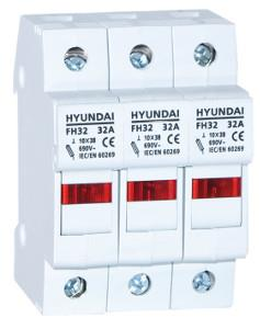 Fuse switch disconnector FH size 10X38 3P max 32A: HYUNFH10X38A032P3