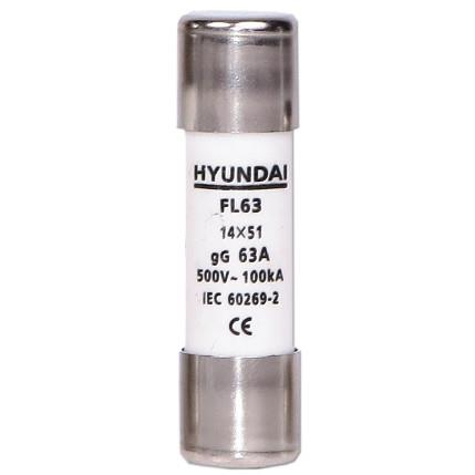 Cylindrical fuse, size 14X51, gG, max 63A: HYUNFL14X510063