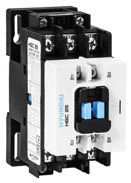 Contactor HGC 25A AC3 / 440V, 3P + 1NO1NC, 230V 50-60Hz, AC1-45A, EU AC690V: HYUNHGC2511NSX230