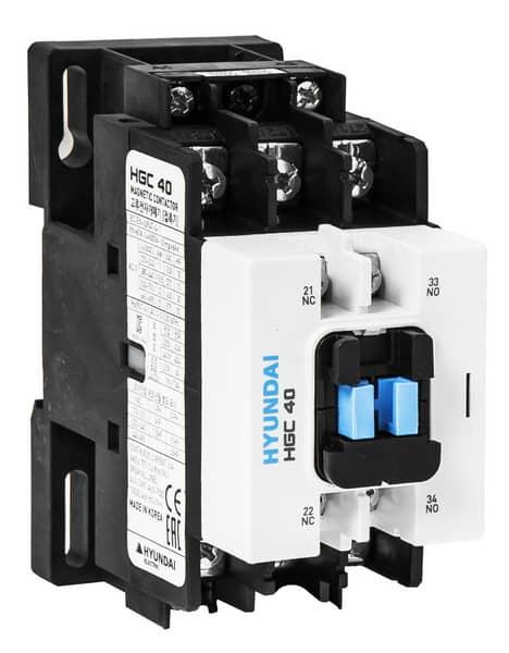 Contactor HGC 40A   AC3/440V, 3P + 1NO1NC, 230V 50-60Hz, AC1-60A, Ue AC690V: HYUNHGC4011NSX230