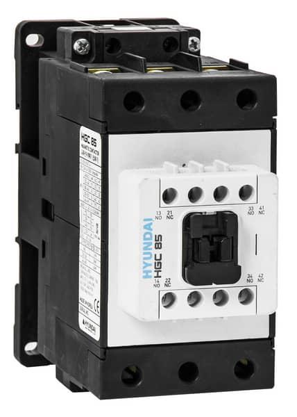 Contactor HGC 85A   AC3/440V, 3P + 2NO2NC, 230V 50-60Hz, AC1-125A, Ue AC690V: HYUNHGC8522NSX230
