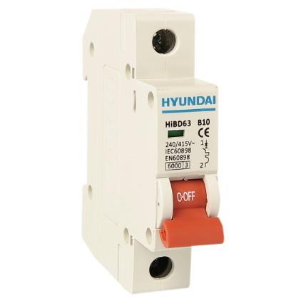 Modular circuit breaker 1P, 6kA, 10A, B: HYUNHIBD63NB110