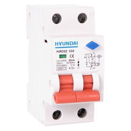 Circuit breaker 6kA, 30mA, 16A, B, type A: HYUNHIRO32NB216A30
