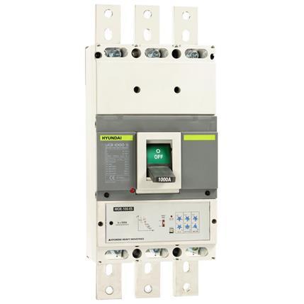 Hyundai - Compact Circuit  Breaker UCB1000S 3P, 100kA 380/415V, 505-1000A, (LTD0.5-1; INST3-11; PTA0.9;)x In; STD2-10x Ir;: HYUNUCB1000S3PESB1K0