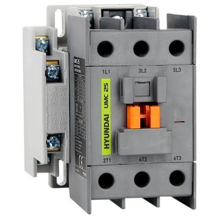 Contactor UMC 18A AC3/440V, 3P + 1NO1NC, 230V 50-60Hz, AC1-40A, Ue AC690V: HYUNUMC1811NSX230