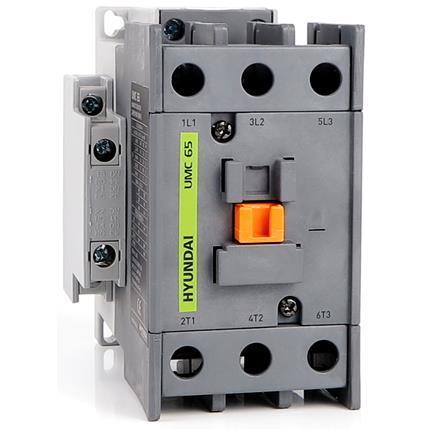 Contactor UMC 65A   AC3/440V, 3P + 2NO2NC, 230V 50-60Hz, AC1-100A, Ue AC690V: HYUNUMC6522NSX230