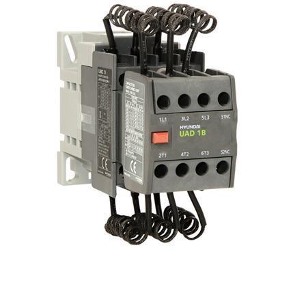 Capacitor contactor 12,5kvar@400V, AC230V 50Hz, auxiliary contacts 1NO, screw clamps: HYUNUMK1810NSX230