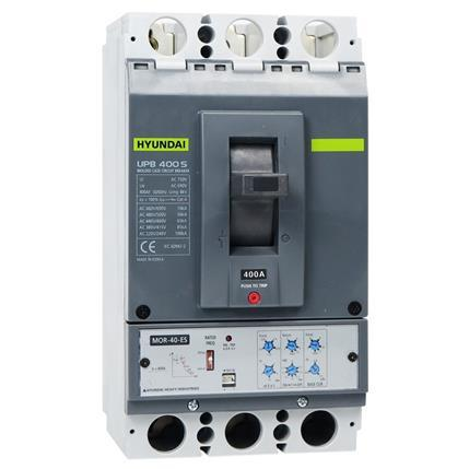 Hyundai - Molded Case Circuit Breaker UPB400S 3P, 85kA 380/415V, 200-400A, Electronic (LTD 0.5-1; INST 3-11)x In; (STD 2-10; PTA 0.9)x Ir: HYUNUPB400S3PESS400