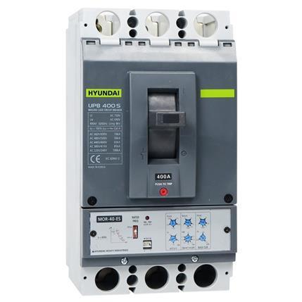 Hyundai - Compact circuit breaker UPB400S 4P, 85kA 380/415V, 200-400A, Electronic protection (LTD0.5-1; INST11; PTA0.9;)x In; STD2-10x Ir;: HYUNUPB400S4PESS400