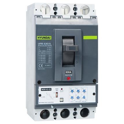 Plug-in circuit breaker compact UPB630S 3P 85kA 380 / 415V, 320-630A, Electronic (LTD0.5-1; INST11; PTA0.9;) x In; STD2-10x Ir: HYUNUPB630S3PESX630