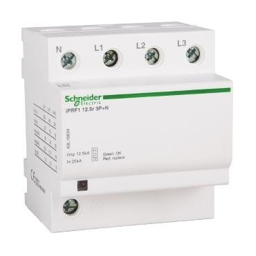Modular Surge Arrester iPRF1 12.5r  3P + N 350V 12.5KA, with remote transfert: SCHNA9L16634