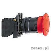 Emergency stop, red, switching off trigger latching turn release 1NO+1NC: SCHNXB5AS8445