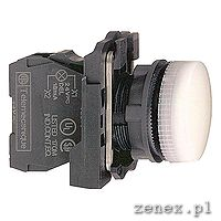 Complete pilot light f22, white, plain lens with integral LED, 24V: SCHNXB5AVB1