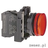Complete pilot light, red, plain lens with integral LED, 24V: SCHNXB5AVB4