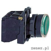 Green flush complete illum pushbutton fi22 spring return 1NO+1NC 220-240V: SCHNXB5AW33M5