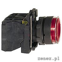 Red flush complete illum pushbutton fi22 spring return 1NO+1NC 220-240V: SCHNXB5AW34M5