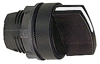 Black selector switch head f22, 3-position stay put: SCHNZB5AD3