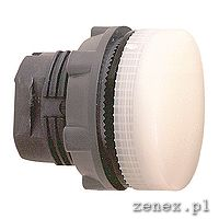 Pilot Light, white, plain lens for integral LED: SCHNZB5AV013