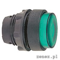 ILLUMINATED PUSHBUTTON HEAD, GREEN, SPRING RETURN FOR, INTEGRAL LED: SCHNZB5AW333
