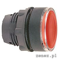 ILLUMINATED PUSHBUTTON HEAD, RED SPRING RETURN FOR, INTEGRAL LED: SCHNZB5AW343