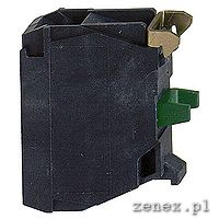 SINGLE CONTACT BLOCK FOR HEAD F22 1NO, SILVER ALLOY SCREW CLAMP TERMINAL: SCHNZBE101