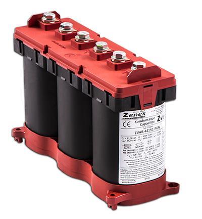 Zvar - Capacitor 6P 12.5 / 15,1kvar @ 400/440 50Hz 3x82,9µF 3x10,4 / 11.5 82x246xH212: ZVAR44151P6N