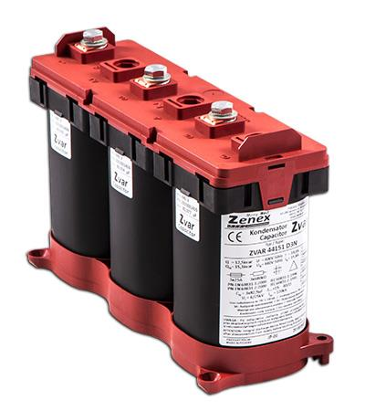 Capacitor 3P D 7,5/10,8kvar@400/480 50Hz 3x49,7µF 3x10,8/13A 82x246xH162: ZVAR48108D3N