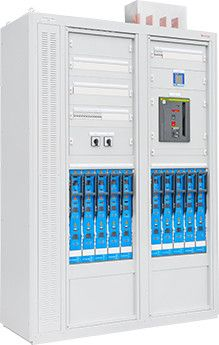 Zdjęcie rozłączników listwowych z miernikami sieci elektrycznej